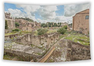 Wall Tapestry For Bedroom Hanging Art Decor College Dorm Bohemian, Famous Ruins Roman Forum Foro Romano Located Between Pa...