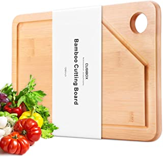 Extra Large Bamboo Cutting Board, 18x12 Chopping Block and with Juice Drip Groove, Cutting Boards for Kitchen, Heavy Duty Chopping Board and Carving Board