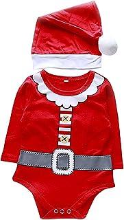 FEEE-ZC, Abrigo de Santa para bebé Infantil Tops de Navidad + Pantalones + Sombrero + Conjunto de Calcetines Traje de Navidad para niños Recién Nacido 0-24 Meses