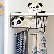 House of Quirk Under Shelf Basket Wire Rack | Slides Under Shelves for Storage with Hangers - Black
