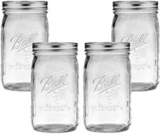 Ball Mason Jar-32 oz. Clear Glass Wide Mouth - Set of 4