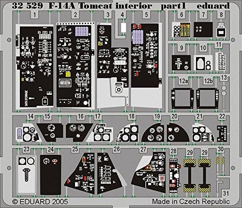 Eduard Accessories 3252930502000F-14A Tomcat Interior para Tamiya de montar , color/modelo surtido