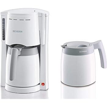 SEVERIN KA 9233 Cafetera para filtros de Café Molido, 8 tazas incluye 2 jarras termo, blanco: Amazon.es: Hogar