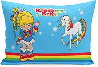 Aikul Throw Pillow Covers Colorful Love Classic Rainbow Brite Starlight Horse 80S Cartoon Pillow Case Cushion Cover Lumbar Pillowcase Decoration for Couch Sofa Bed Car,20 x 30 inchs