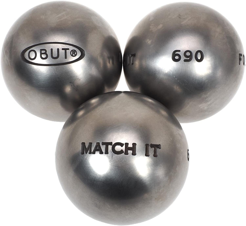 OBUT Match 115. IT Edelstahl 75 mm – Boccia-KugelnB00YU7PM8YQualität  | Spaß