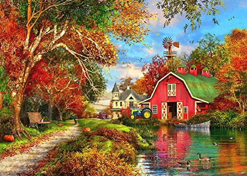 Wine Country Villa Red Barn Full Diamond Painting Cross Stitch Kit Art Scenic Area Diamond Painting