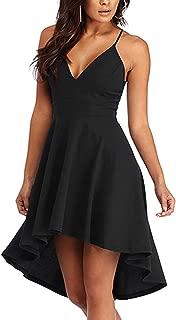 Summer Dresses for Women Off Shoulder Short Sleeve Plain Skater Formal Party Cocktail Dress