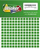 476 vierblättrige Kleeblätter, 10 mm, aus PVC Folie, selbstklebend, wetterfest, Glücksbringer Sticker Aufkleber