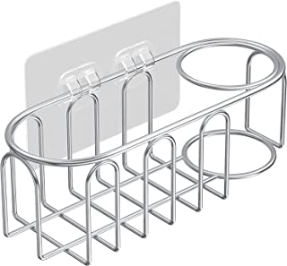 stusgo 2 in 1 Sink Sponge Holder, Sponge Caddy for Kitchen Sink, Adhesive Sink Brush Holder, SUS304 Stainless Steel Rustpr...
