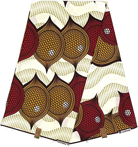 HITARGET Wax Pagne African Fabric Original Collection 6 Yards Printed wax Top didara 100% Owu funfun Ref SS