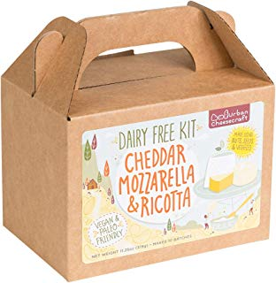 Dairy Free Cheese Making Kit – DIY Cheddar, Mozzarella, Ricotta Cheese Maker – All Natural, Vegan, Paleo, Gluten Free - Beginners Can Make Fresh, Homemade Cheeses in 1 HR – Supplies Included
