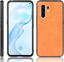 For Vivo X30 Pro Shockproof Sewing Cow Pattern Skin PC + PU + TPU Case New(Black) LKay (Color : Orange)