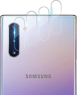RIIMUHIR Protector de Pantalla de Lente de Cámara para Samsung Galaxy Note 10,[4 Piezas] Cristal Templado para Samsung Galaxy Note 10 cámara,[9H Dureza] [Alta Definicion] [Anti-Mancha]