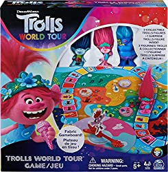 Fabric Gameboard: The Trolls World Tour Game gameboard is made from durable fabric for a unique look and feel No Batteries Needed: Just open the box, place the tokens on the fabric gameboard, get your Trolls movers in place and you're ready to take o...