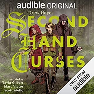 Second Hand Curses                   Written by:                                                                                                                                 Drew Hayes                               Narrated by:                                                                                                                                 Scott Aiello,                                                                                        Marc Vietor,                                                                                        Tavia Gilbert                      Length: 9 hrs     87 ratings     Overall 4.7