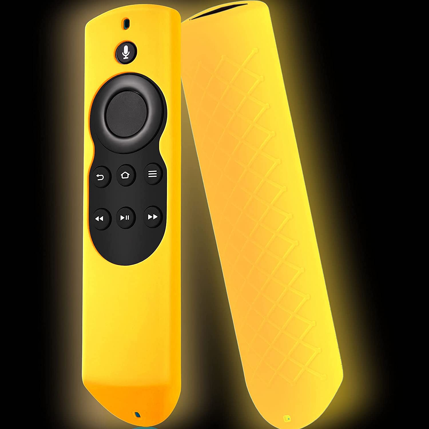 Packzprint Firestick Cover Compatible with Amazon Fire Stick Remote, Cover for Fire Stick Remote Control Glow in The Dark, Firestickremote Cover Glow Orange