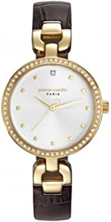 Pierre Cardin Women White Dial Leather Band Watch - PC108172F02