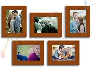 ART STREET Brown Chief Photo Frame - Set of 5 Individual Brown Wall Photo Frames