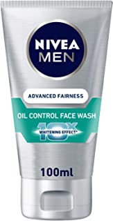 NIVEA, MEN, Face Wash, Advanced Fairness + Oil Control, 100ml