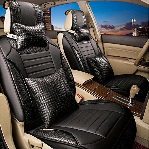 AMYMGLL Coussin Général Car Cover en cuir tricotée Deluxe Edition (11Réglez) Cinq Coussin voiture couverture générale Four Seasons Universal 4 Couleurs Sélectionner , #31