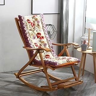 Cojín para Tumbona Cojín acolchado mecedora almuerzo pausa silla cojín universal cálido pastoral bambú silla de salón cojín silla de felpa silla fresca (48 * 125 cm,48 * 145 cm)(No incluye silla)