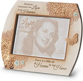 Pavilion Gift Company 19050 Light Your Way Memorial Heaven in Our Home Photo Frame, 7-1/4 by 6-Inch