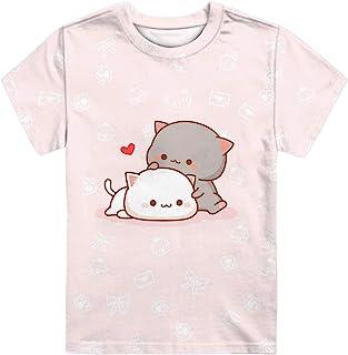 WELLFLYHOM Kids Tshirts Girls Boys Short Sleeve Crewneck Tees Shirts Casual Sport Pullover Tops Size 3-16 Years