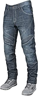 Speed and Strength Rust and Redemption Men's Armored Moto Street Motorcyle Pants - Blue / Size 36X34