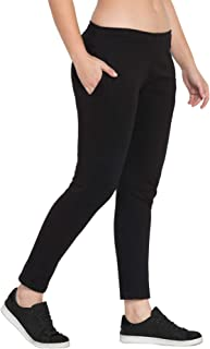 American-Elm Cotton Comfort Fit Track Pants for Women