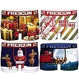 FREEGUN Set 4 Christmas para Hombre, Multicolor, Boxer 4pcs PK2134, S