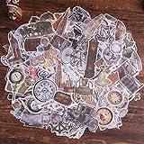 Pegatinas para álbumes de recortes, Lychii 240 pegatinas de papel para decoración con elementos retro, pegatinas adhesivas de diseño vintage para álbumes de recortes, planificador de calendarios