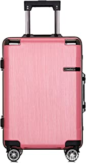 """Stylish and durable Wheels Travel Rolling Boarding,20"""" 24""""Inch 100% Aluminium Spinner Aluminium Convenient Trolley Case,Super Storage Luggage Bag, high quality (Color : Pink, Size : 20inch)"""
