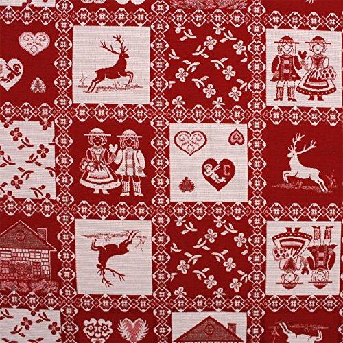 Hans-Textil-Shop Jacquard Stoff Meterware Landhaus Alpen