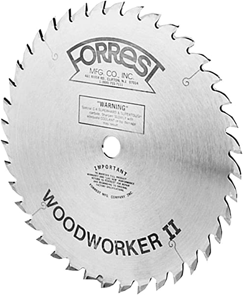 Forrest WW10407125 Woodworker II 10 Inch 40 Tooth ATB 125 Kerf Saw Blade With 5 8 Inch Arbor