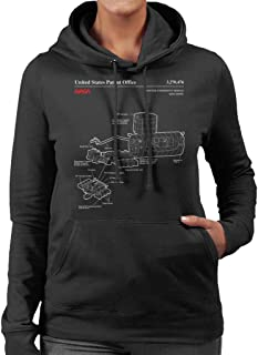NASA Japanese Experiment Module Kibo Blueprint Women's Hooded Sweatshirt