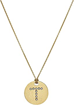 Tiny Treasures 18K Yellow Gold Initial T Pendant Necklace
