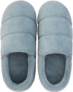 綿の靴 ルームシューズ レデース メンズ コットンスリッパ 男女兼用 暖かい 厚い底 カップル かわいい 23.5~24cm インドア 足首まで暖かルームブーツ 冬用 防寒 6色 ダークグリーン