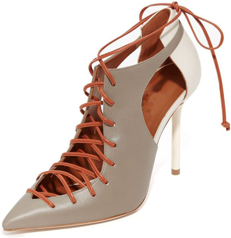 Women's Court shoes Sandals High Heels Ankle Cross Straps Buckles Fashion Pump Party Evening