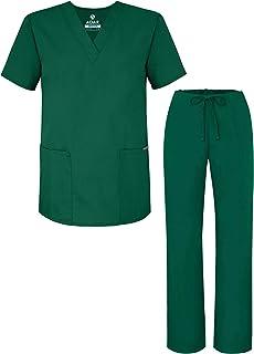 Adar Uniformes médicos Unisex - Uniformes médicos Unisex con cordón - 701 - Hunter Green - XS