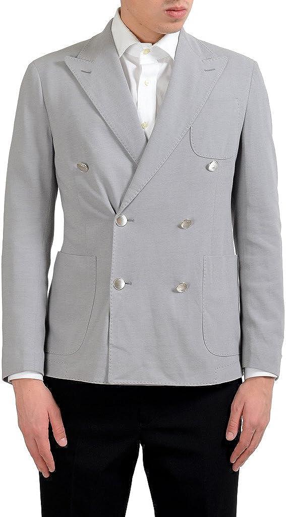 MALO Men's Gray Double Brested Blazer Sport Coat