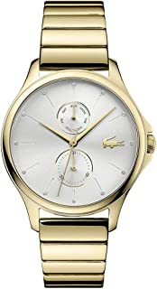 Lacoste Women's Kea Quartz Multifunction Yellow Gold IP and Bracelet Casual Watch, Color: Yellow Gold (Model: 2001053)