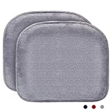 2Pack Memory Foam Chair Pad, Chair/Seat Cushion with Non Slip Chair Pads for Dinning Room Comfort and Softness,Washable,15x17 inches - Grey