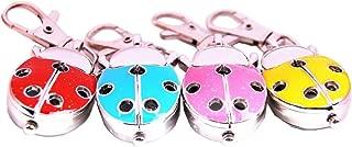 4PCS Analog Keychain Key Ring Watch Pendant Wings with Holes Ladybug Quartz Lady Bug Girls Gift Watches