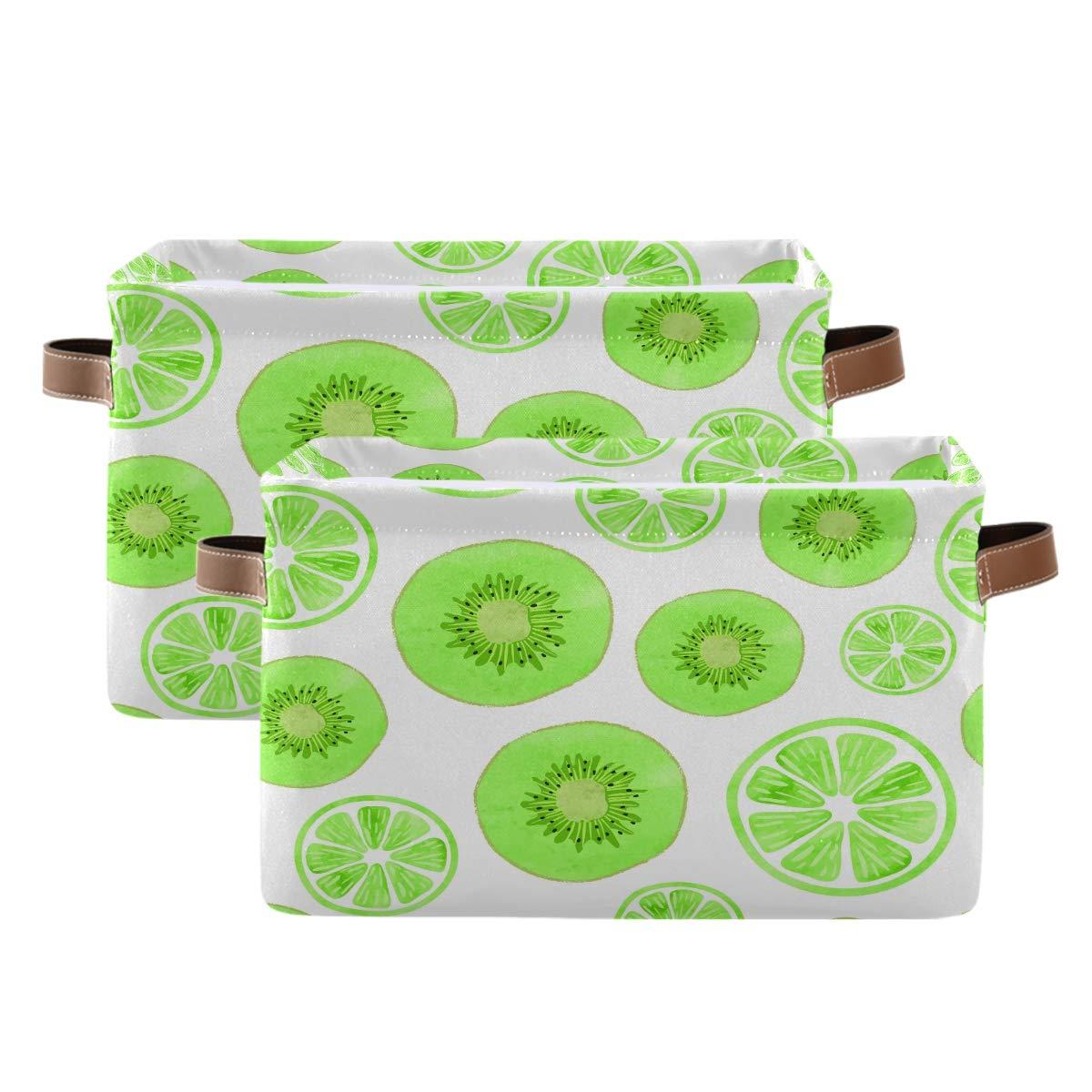 Nashville-Davidson Mall WXLIFE Storage Basket Bins Kiwi Storag Online limited product Lemon Fruit Pattern Large