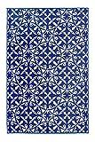 FAB HAB Recycled Plastic Carpets San Juan - Dark Blue (120cm x 180cm)