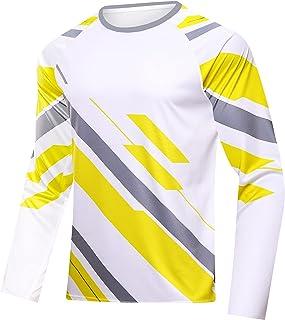 sponeed Men UV T-Shirt Long Sleeve UPF 50+ Shirts Sun Protection Jacket