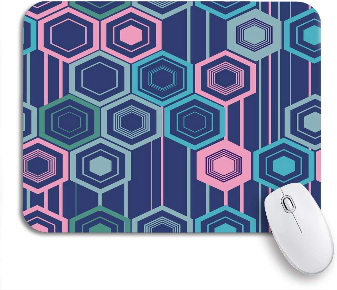 AIMILUX Gaming und Office Mauspad,Sch/önes farbiges Muster und portugiesische Fliesen Azulejo marokkanische Ornamente,rutschfester Unterseite