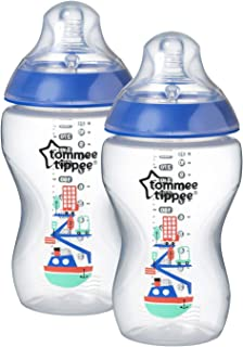 Tommee Tippee Tt42262181Blue Closer To Nature Feeding Bottles 2X 340Ml