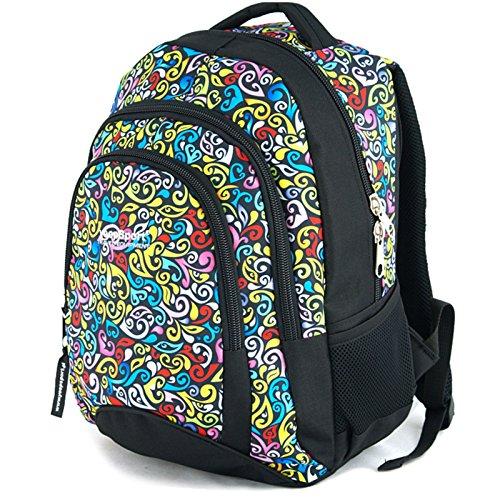 YeepSport Schulrucksack für Schule, Rucksack für Arbeit und Freizeit 30l, Jugendliche Mädchen und Jungs - 21811 Crazy Yellow