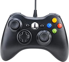 JIULONG Wired Xbox 360 Controller, 7.2 ft Full Vibration USB Wired Gamepad Game Controller Compatible with Microsoft Xbox 360 & Slim 360 PC Windows 7 (Black)